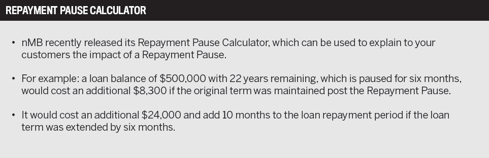 Repayment pause calculator