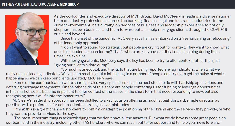 In the spotlight: David McCleery, MCP Group