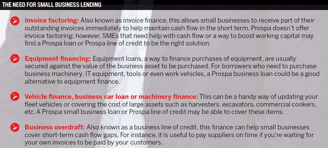 The need for small business lending