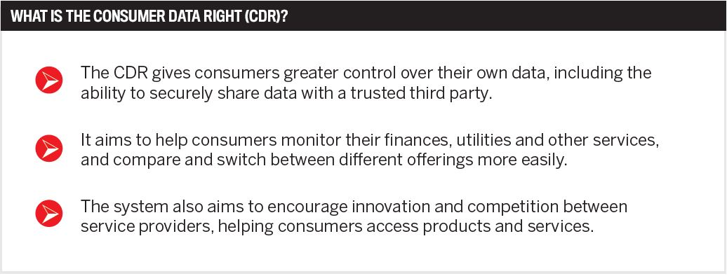 What is the consumer data right (CDR)?