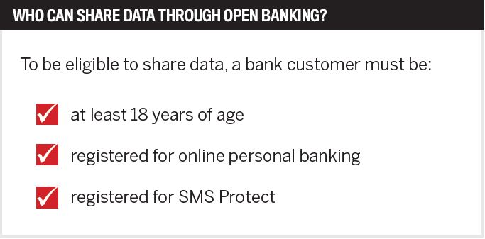Who can share data through open banking?