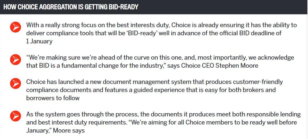 How Choice Aggregation is getting bid-ready