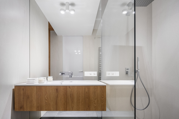 Frameless glass shower screens will also do the trick in making the room seem more spacious.