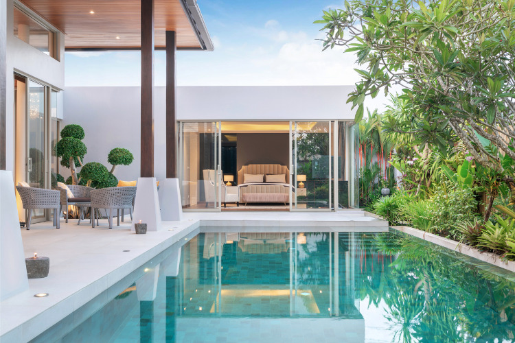 How one couple built their dream pool-side home