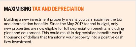 Maximising tax and depreciation