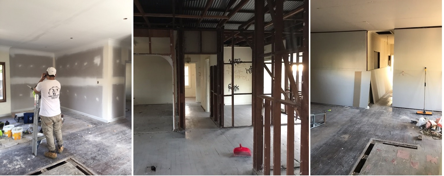 Propiedad Sturt en mitad de la renovación