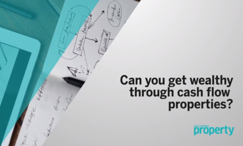 Getting wealthy through cash flow properties