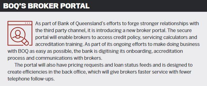 BOQ's broker portal