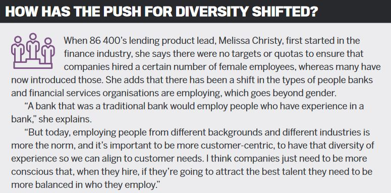 How has the push for diversity shifted?