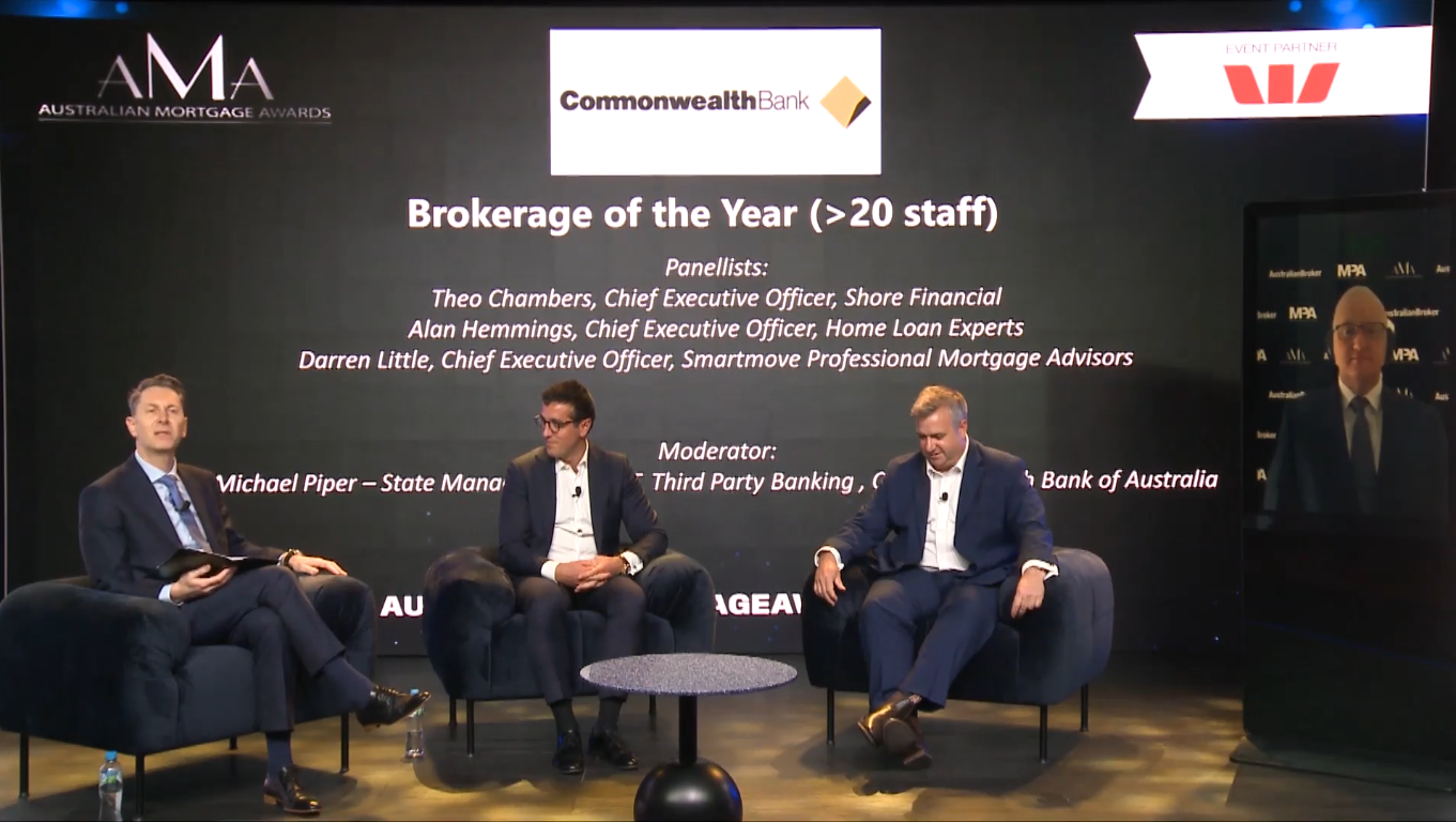 AMA's: Commonwealth Bank of Australia Brokerage of the Year - (>20 staff)