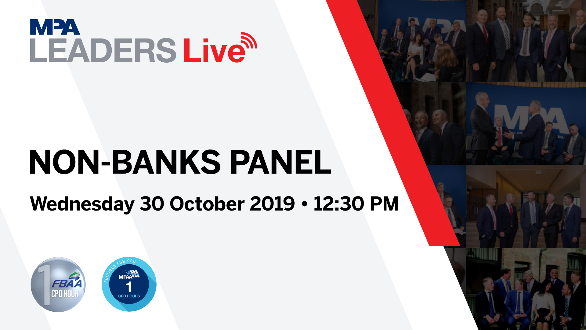MPA Leaders Live: Non-Banks Banks Panel 2019