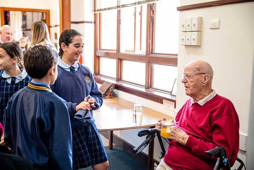 Now for the good news: Students supporting elderly community
