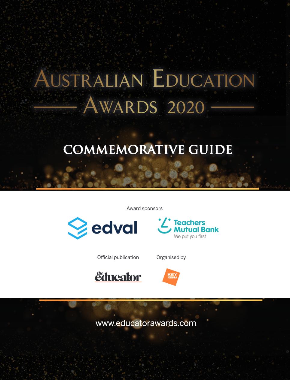 Australian Education Awards 2020 Commemorative Guide