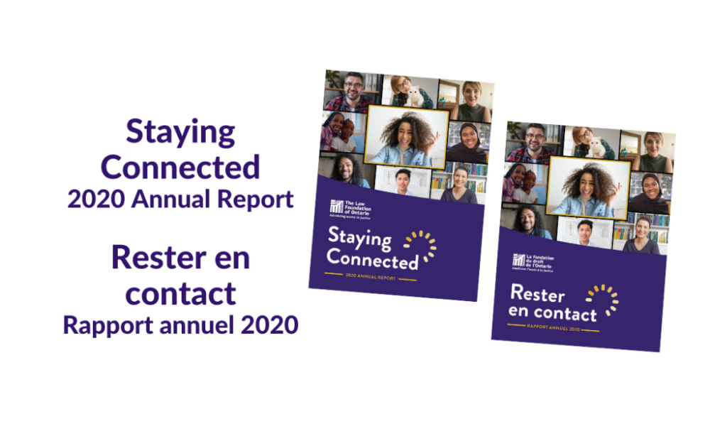 Law foundation's 2020 annual report features grantees promoting access to justice for Ontarians