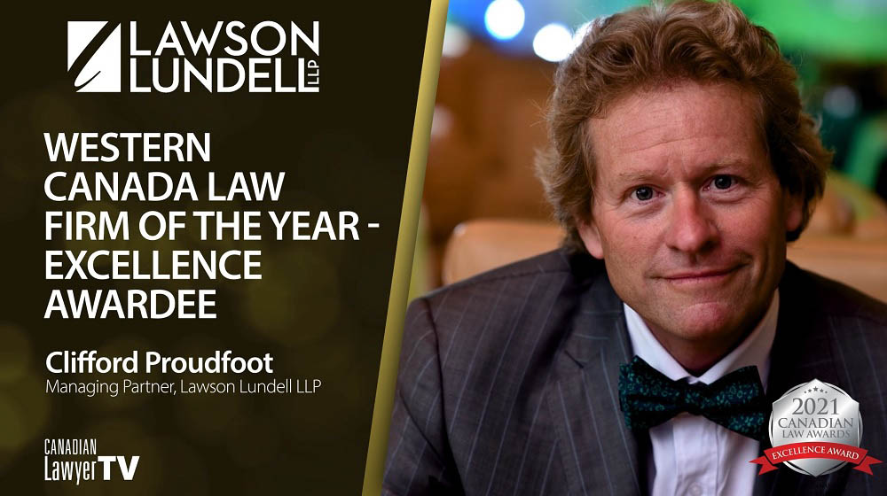 Lawson Lundell LLP, Western Canada Law Firm of the Year - Excellence Awardee