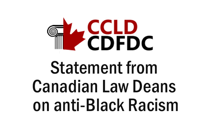 Law deans stand in solidarity with those calling out systemic racism