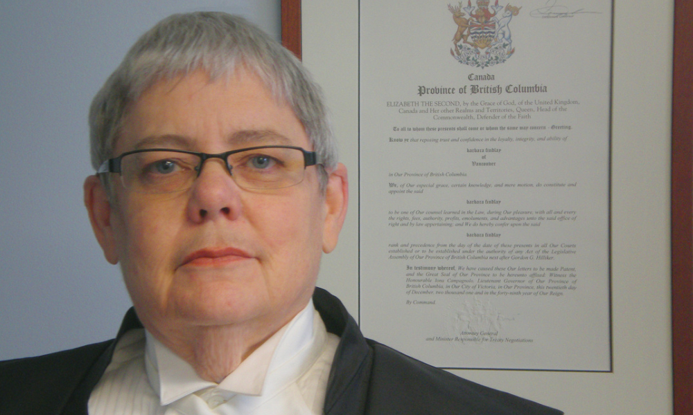 B.C. lawyer honoured for role in legal fight to eliminate discrimination against LGBTQ2SI+ community