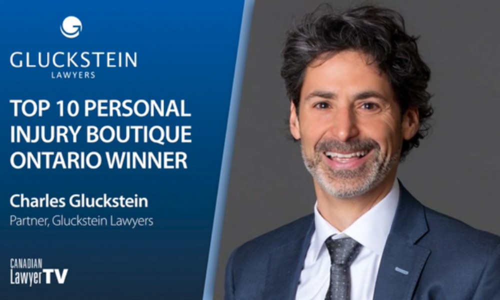 Charles Gluckstein, Top 10 Personal Injury Boutiques Winner