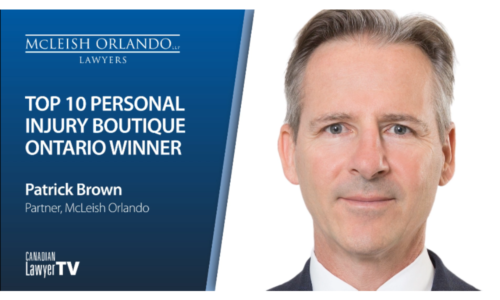 Patrick Brown, Top 10 Personal Injury Boutiques Winner