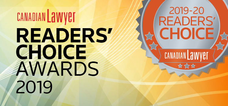 2019 Canadian Lawyer Readers' Choice Awards