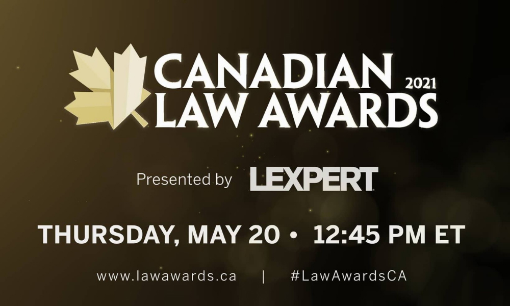 What to expect at the virtual Canadian Law Awards 2021