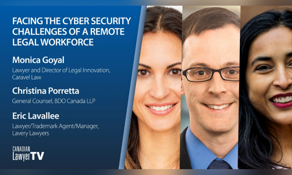 Facing the cybersecurity challenges of a remote legal workforce