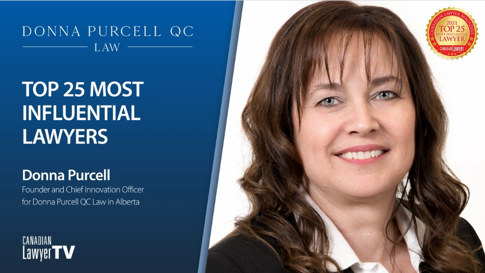 Donna Purcell, Q.C. Top 25 Most Influential Lawyer of 2021