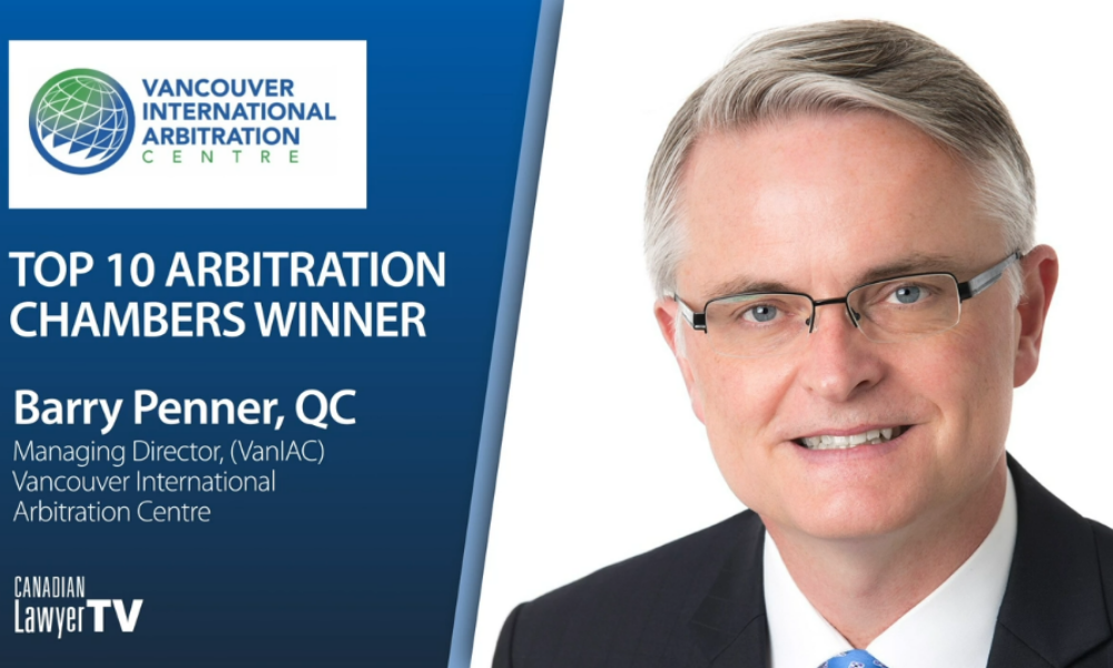 Barry Penner of Vancouver International Arbitration Center on the benefits of ADR