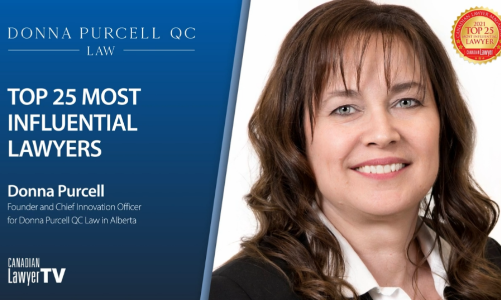 Top 25 Most Influential lawyer Donna Purcell on access to justice, innovation and legal technology