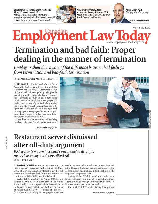 Canadian Employment Law Today