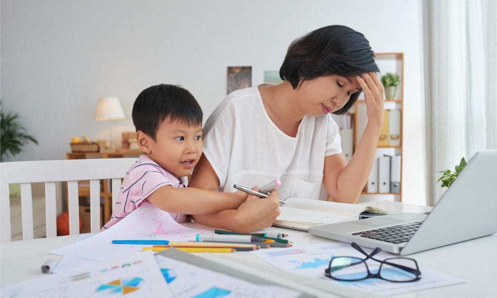 Nearly half of working parents can't focus with kids at home