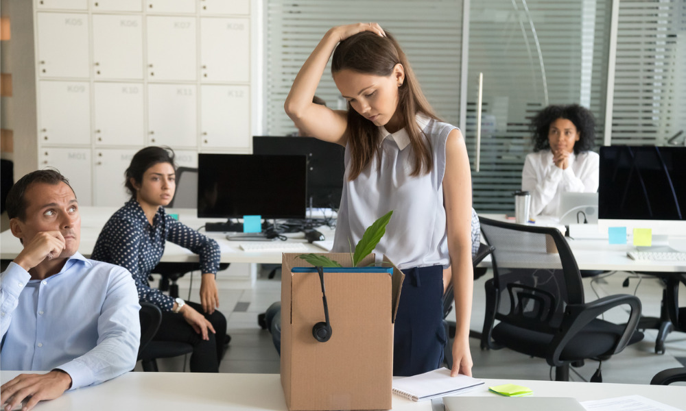 Avoiding stress caused by manner of dismissal