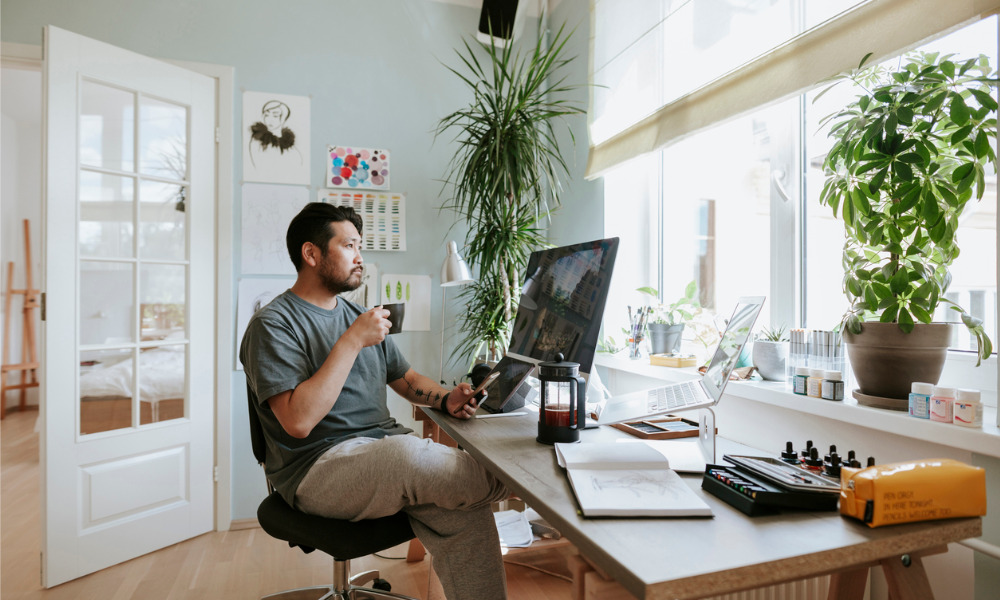 Work from home helps combat employee burnout