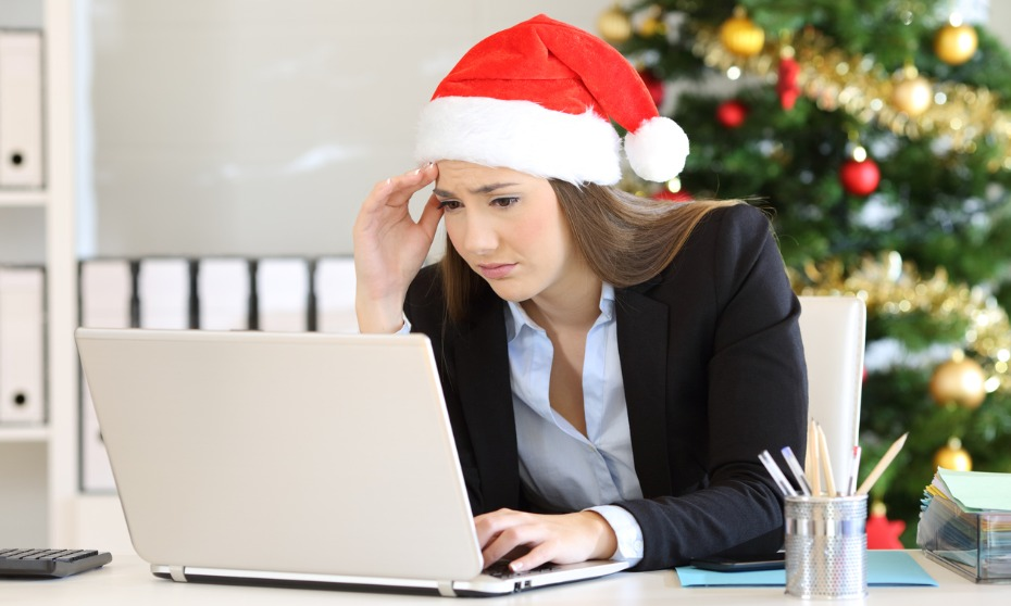 Many employees stressed during holiday season