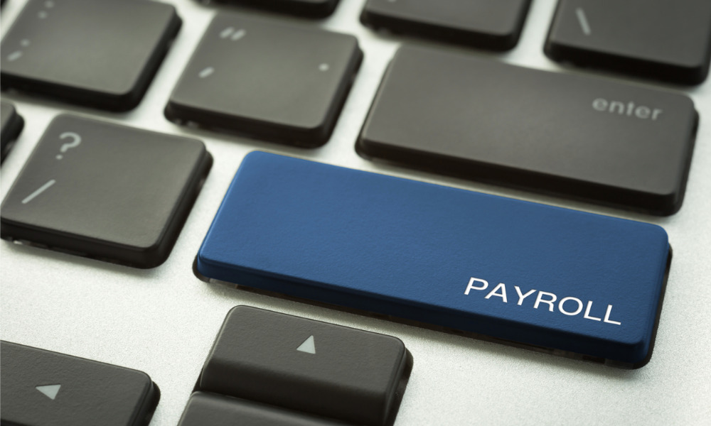 Recovering overpayment from a payroll error