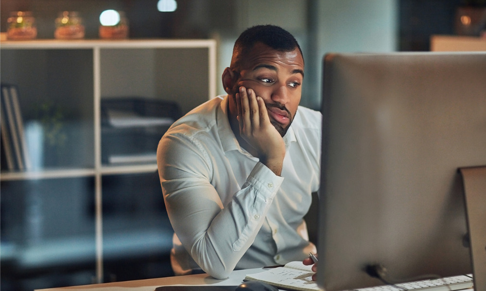 Office workers unhappy with repetitive tasks