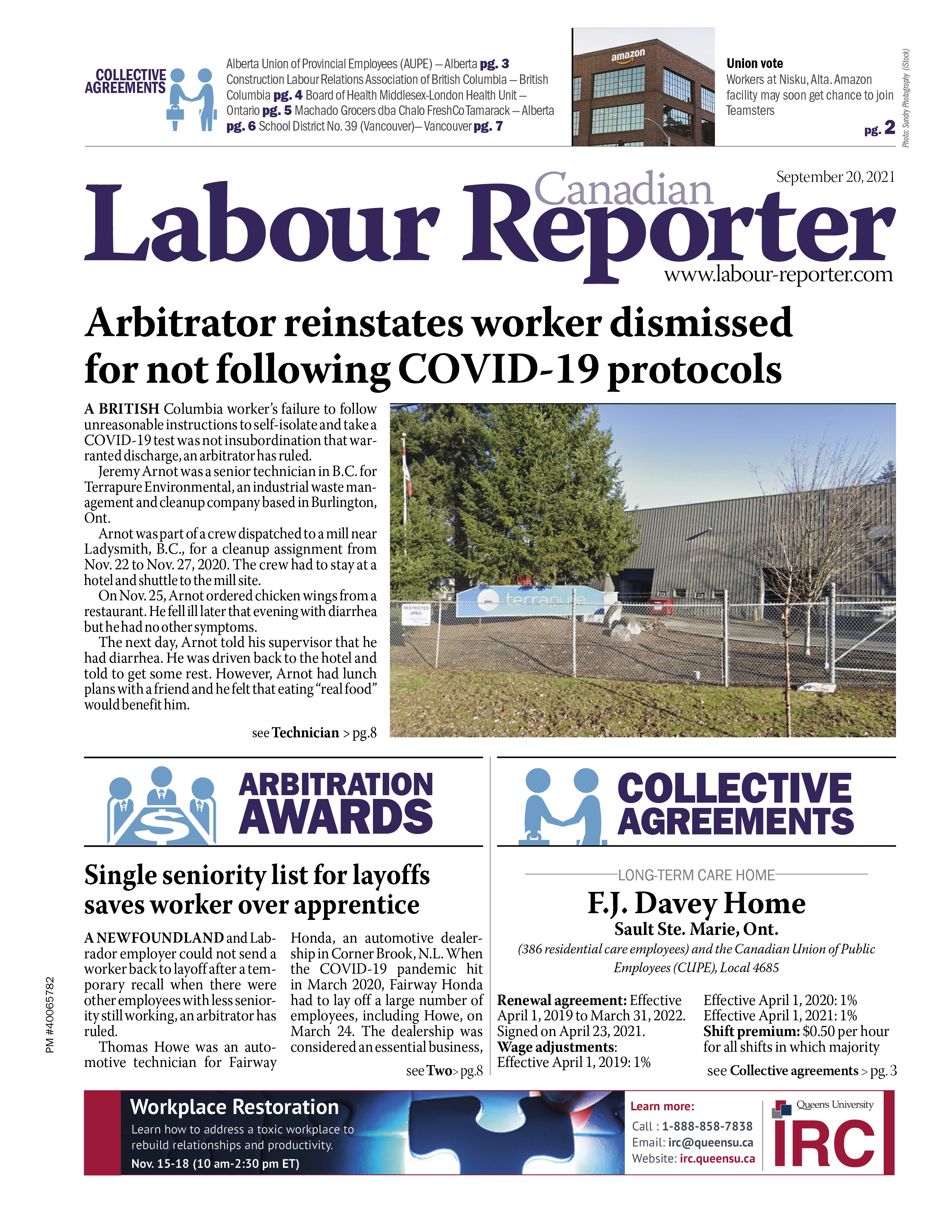 Canadian Labour Reporter