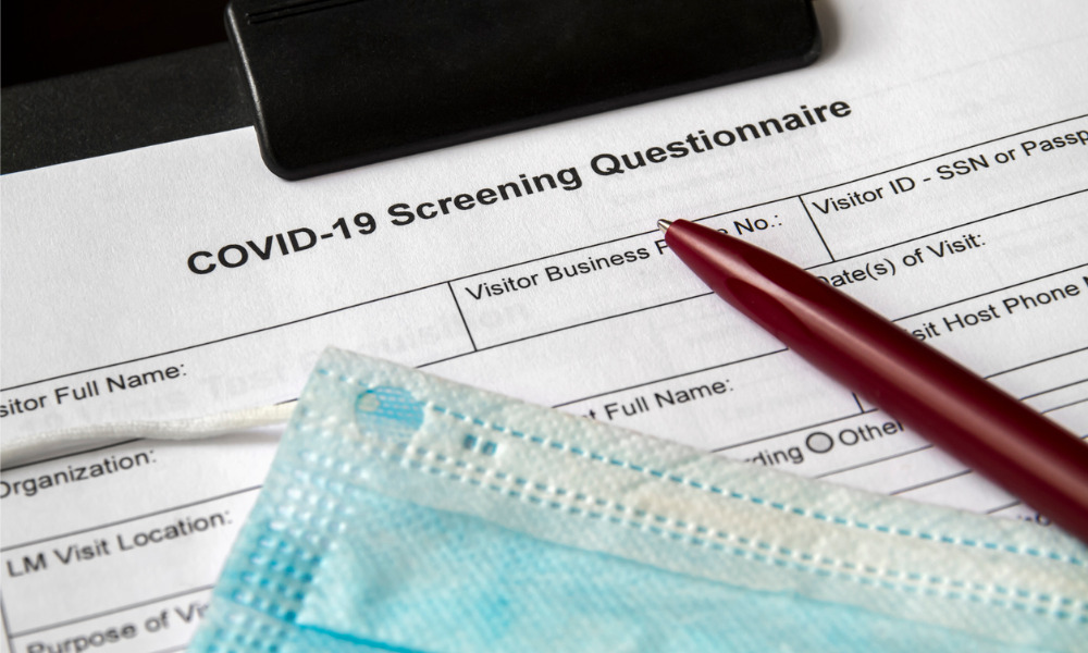 Employee refuses to answer screening questions