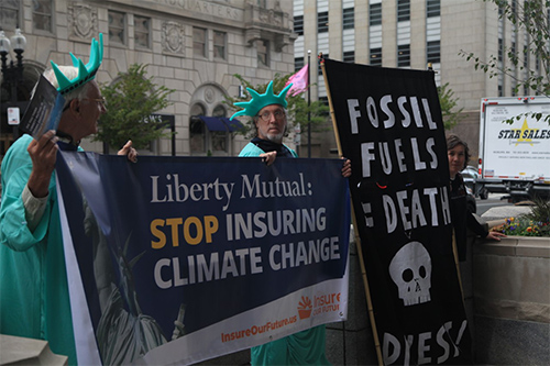 Climate activists protest Liberty Mutual
