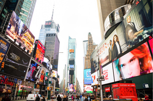 Insurance battle turns out lights in Times Square