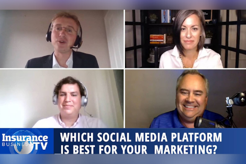 Which social media platform is best for marketing insurance?