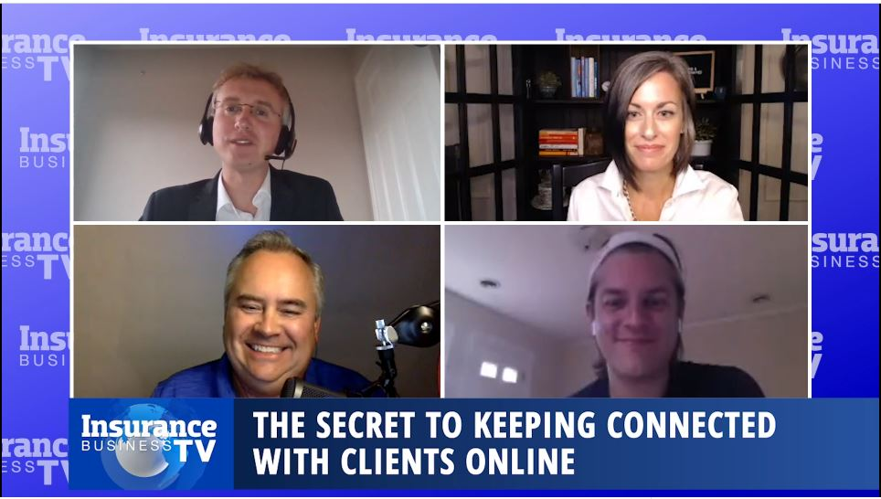 How can you keep connected with clients online?