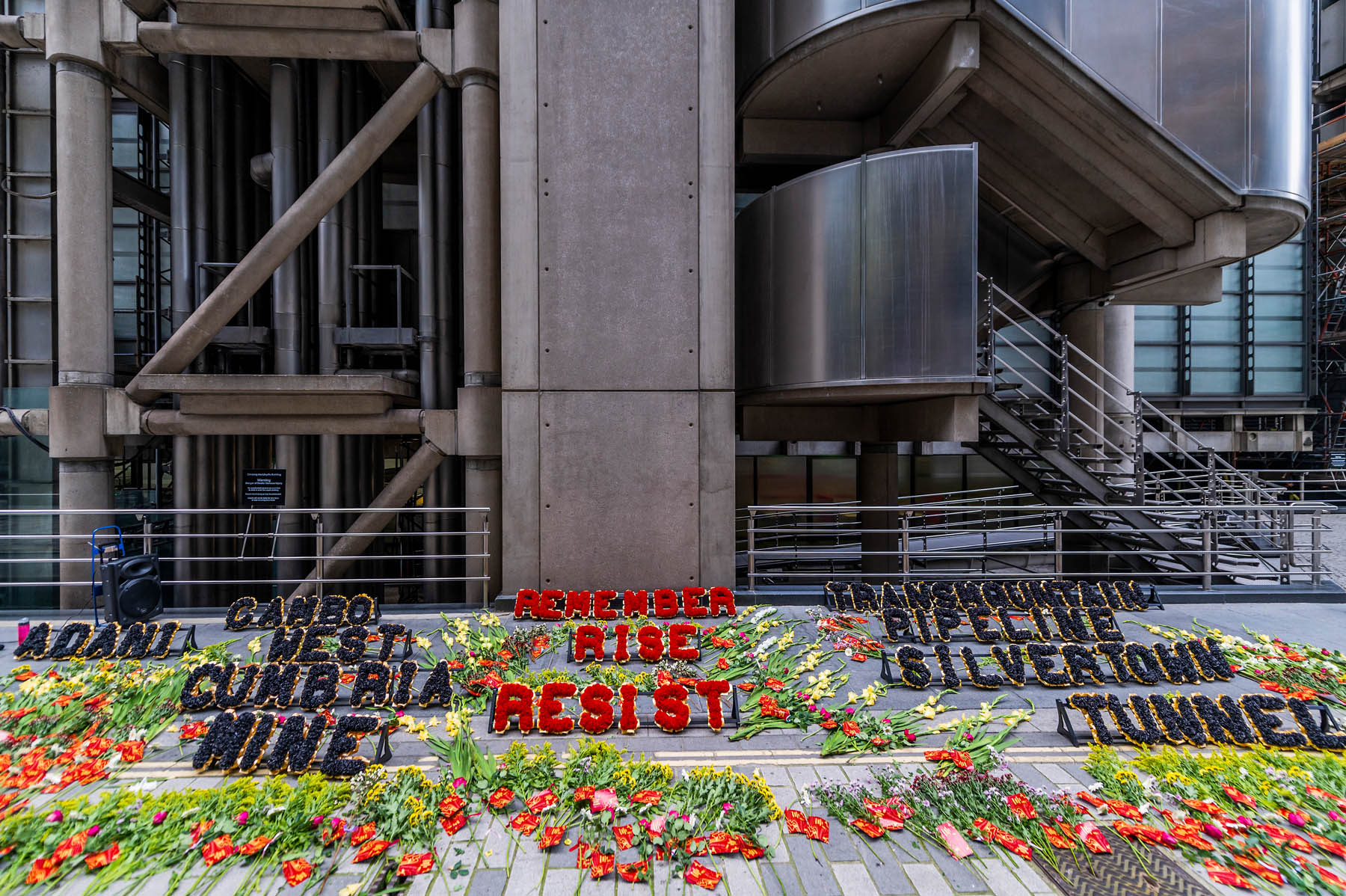 Coal Action Network hosts 'climate justice memorial' outside Lloyd's HQ