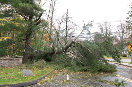 Cold front in southern Ontario causing high winds and storm surges