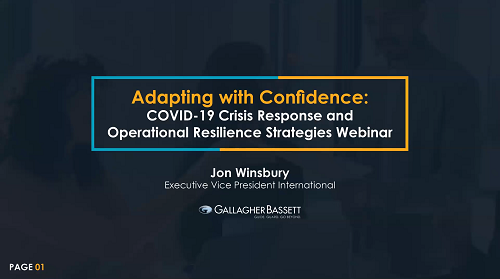 Adapting with confidence: COVID-19 crisis response and operational resilience strategies