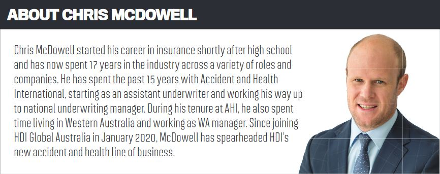 Chris McDowell, HDI Global Australia