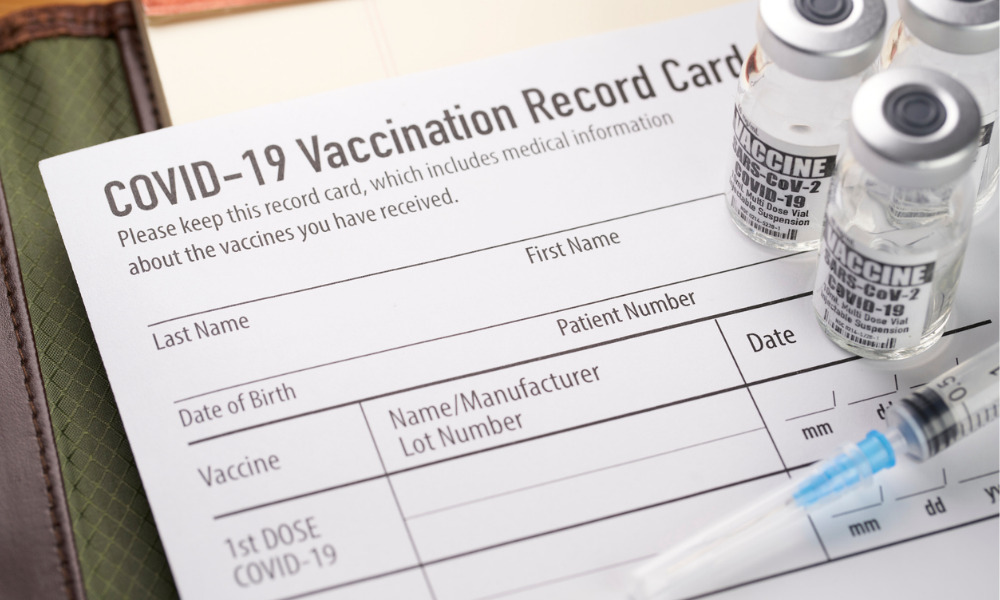 HR lands 'vaccine passport' for returning employees