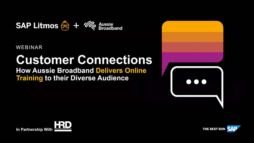 Customer connections: How Aussie Broadband delivers online training for a diverse audience
