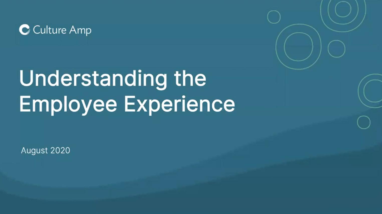 Understanding your employee experience