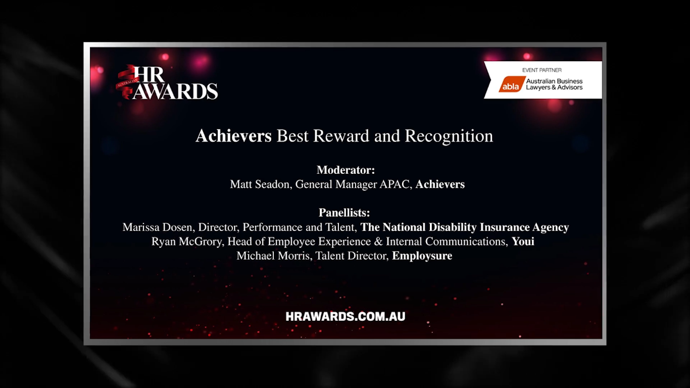 Achievers Panel - Best Reward and Recognition Program